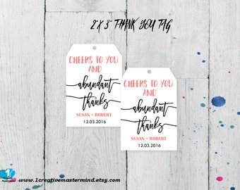 DIY Thank you Favor Tag template, thank you favor label,  editable favor tag, printable favor tag, thank you tag, wedding tag, #1CM87-1