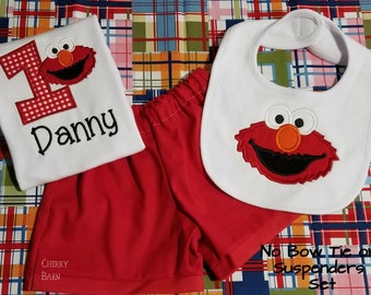 Boy Elmo Inspired Birthday Shirt or Outfit