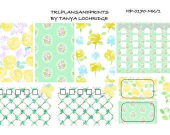 HP-0170-MK Stickers - Spring Softenss! Boho/Shabby Chic/Vintage Mini-Kit -  Happy Planner, MAMBI, Erin Condren, Recollections, Notebooks