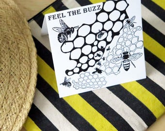 Feel The BUZZ Greeting Card