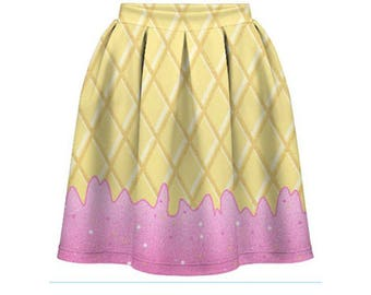 Fairy Kei ice cream print skirt kawaii