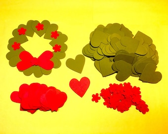 12 Holiday paper wreaths. craft for children. Quick crafts for kids. Craft kits.