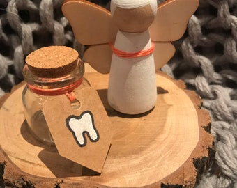 Tooth Fairy Wooden Peg Doll