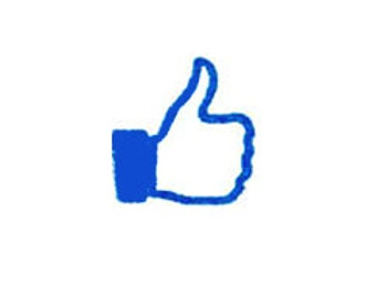 facebook Like thumbs up Rubber Stamp