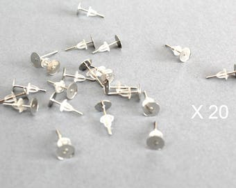 Stud Earrings, earrings studs, stainless steel earrings, X 20 pieces + push