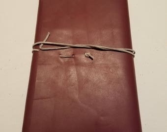 Reusable Leather Journal Cover- Journal Included