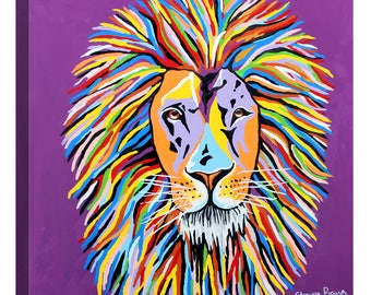 """Giclee Canvas Wall Art """"Lewis McZoo"""" by Steven Brown"""