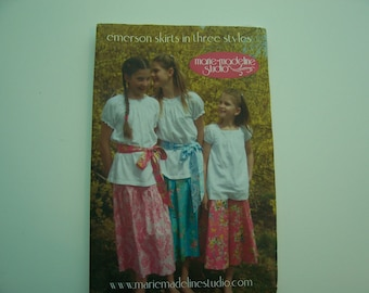 Boutique Pattern  -  Marie-Madeline Studio  -  Emerson Skirt in Three Styles  -   Sizes 2 - 14  -  6.00