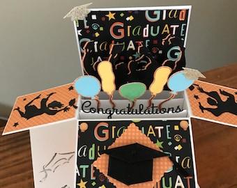Graduation Explosion/Pop Up Card