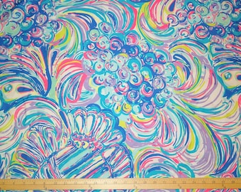 Cotton poplin fabric squares and pieces 6 X 6 , 9 X 18 or 18 X 18 inches / pieces  Guilty Pleasure ~Lilly Pulitzer~