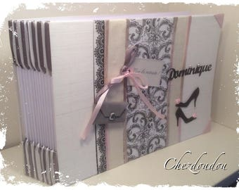 """vintage black and white for wedding or anniversary guest book """""""" Dominique"""""""