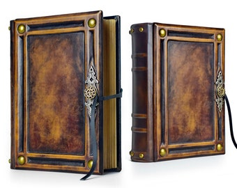 """8"""" x 10"""" - Large Leather Journal - 600 pages - unique journal, special gift, brown leather journal, unique notebook"""
