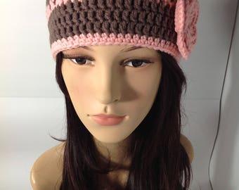 Crochet Bennie hat   , crochet yarn ,yarn, cotton soft  yarn,  Winter yarn,