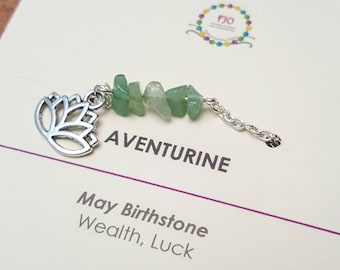 Green Aventurine Gemstone Anklet May Birthstone Jewellery Healing Beaded jewelry Minimalist Anklet Yoga Jewelry