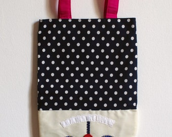 SALE !! Rabbit Polka dot bag
