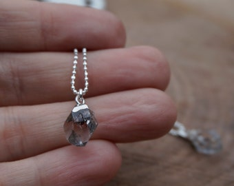 Herkimer Diamond and Sterling Silver Necklace / Herkimer Diamond Pendant / Herkimer Necklace / Herkimer Diamond Necklace / Herkimer Diamond