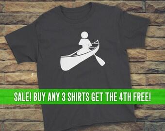 Canoeing T-Shirt, Canoe Shirt, Unisex T-Shirt, Youth Canoeing Shirt, Youth Canoeing T-Shirt, Lots of Colors
