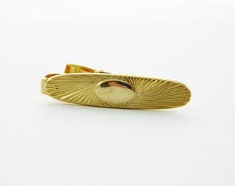 Gold Oval Skinny Tie Clip
