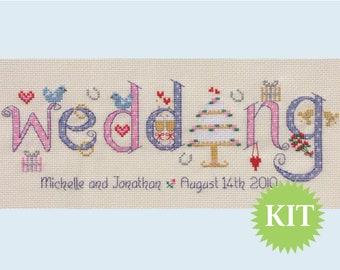 Wedding - Customisable Cross Stitch KIT