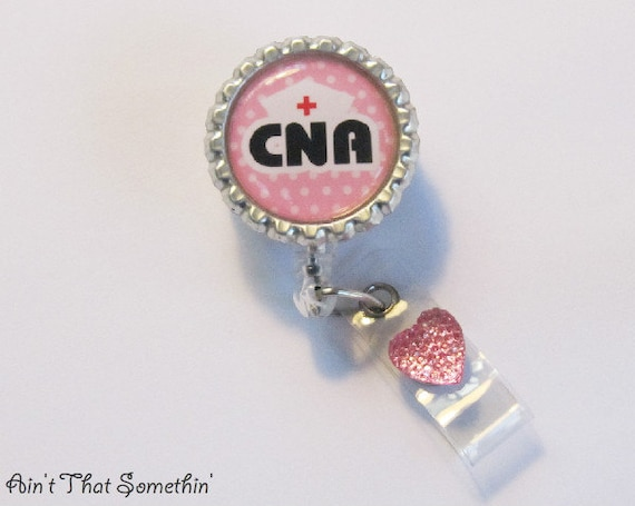CNA Retractable Badge Reel   Hospital Badge Reel   Certified Nursing  Assistant ID Holder   Medical Badge Clip   Gift Under 10
