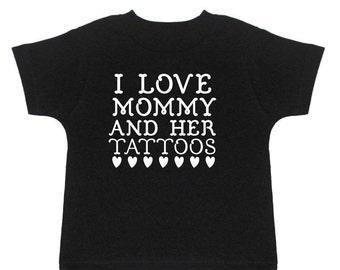 Kids Tattoo Shirt - Mom With Tattoos - Tattooed Mom - Mom Tattoo - Tattoo Artist Mom  - Tattoo Tee - Baby Tattoo Shirt - Punk Rock Kids