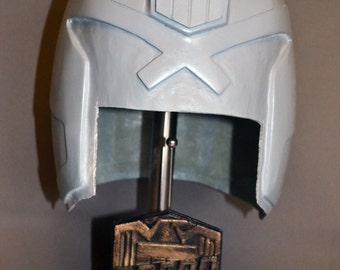 January SALE - Judge Dredd 3D Replica Fibreglass Resin Helmet Kit Prop