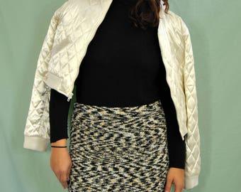90s Fuzz Pencil Skirt L-XL