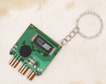 PlayStation PS1 Memory Card Circuit Board Keyring Upcycled