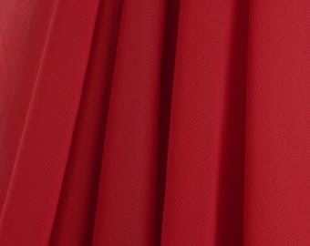 """60"""" Wide - High Quality 100% Polyester Chiffon Sheer Fabric - RED"""