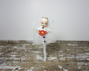 Vintage Christmas Angel Netted Angel made in Japan Vintage Christmas Decor Holiday Decor