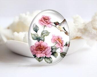 Bird Handmade Oval Photo glass Cabochons Image Glass Cover For Charm 30x40mm 18x25mm 13x18mm 10x14mm (P2359)