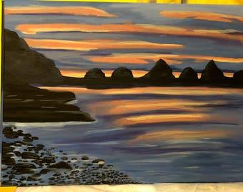 18 x 24 Mountain Sunset