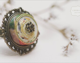 One-of-a-kind, Vintage-looking Paper  Ring
