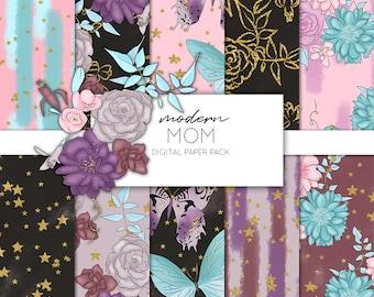 Modern Mom Digital Paper Pack