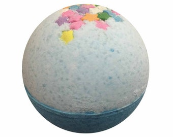 Beneath the Stars Bath Bomb, Kid Friendly Bath Fizzy, Bath Bombs, Epsom Salts, Hydrating Coconut Oil, Sensitive Skin, Great Gift for Her