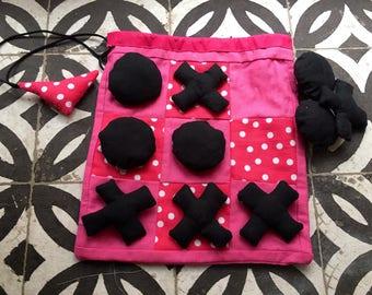 Game of Tic Tac Toe fabric