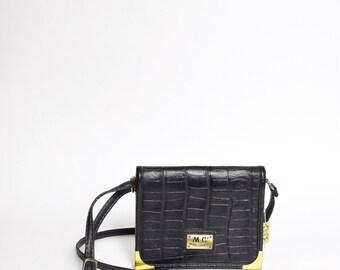 Vintage 90's Genuine Leather Mini Bag/Shoulder Bag/ Purse