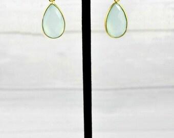 Gold Birthstone Earrings, Dainty Gemstone Earrings, Everyday Simple Earrings, Small Minimal Earrings, Birthstone Jewelry, Mom Gift,