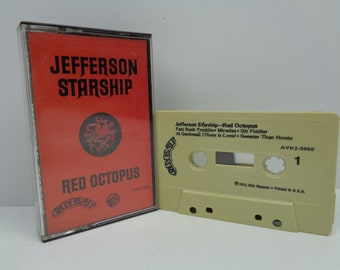 Jefferson Starship Red Octopus Cassette