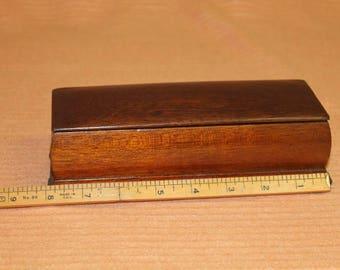 Solid Mahogany trinket/jewlery box