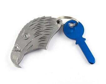 Eagle head keychain - eagle keychain - American bald eagle keychain - metal keychain - American gift