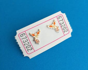 Phoenix Enamel Stud Earrings