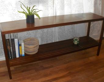 Walnut Sofa Table Mid-Century Modern