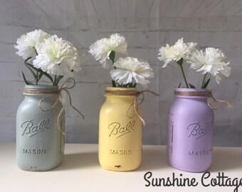 Chalk Painted Quart Mason Jar