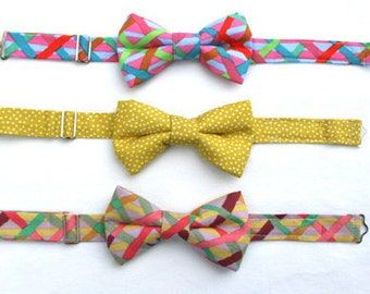 Plaid Boys Bow tie, Yellow Bow Tie, Toddler Bow Tie, Bow Tie for Boys, Bowties, Boys Easter Outfit, Smash Cake Outfit, 1st Birthday Outfit