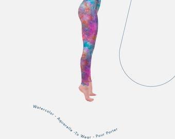 Colorful Leggings, mermaid leggings, women tights, cool tights, psy leggings, tights fashion, gym funky tights, texture leggings