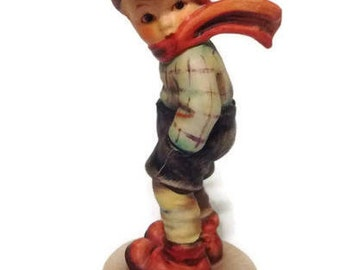 March Winds Hummel Figurine #43, Hummel Boy with Scarf. Goebel Figurine W. Germany. Vintage Hummel Collectible Gift under 50.