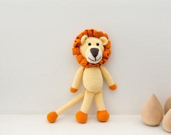 Crochet Toy - Stuffed Animal - Lion Toy - Lion Stuffed Animal - Organic Baby Toys - Lion Plush - Amigurumi Lion - Baby Shower Gift