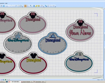 Embroidery Iron-on Patch - Customized Name tags