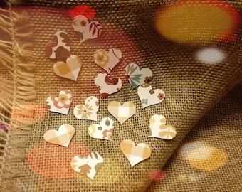 Fall Heart Confetti